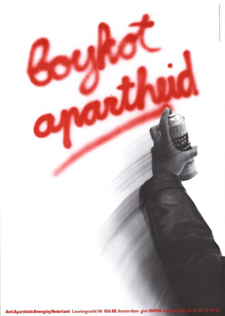 Poster boykot apartheid