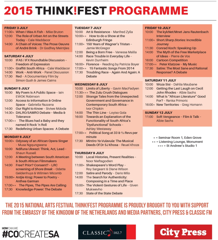 Thinkfest brochure 2015 programme