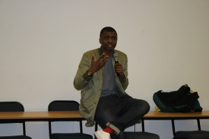 Loyiso Gola during his talk at Think!fest 2015.